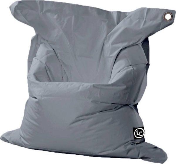 Whoober Rechthoek zitzak St. Tropez XL outdoor grijs - Wasbaar - Geschikt voor buiten