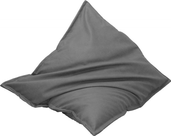 Drop & Sit Leather look zitzak 100 x 150 cm - Grijs