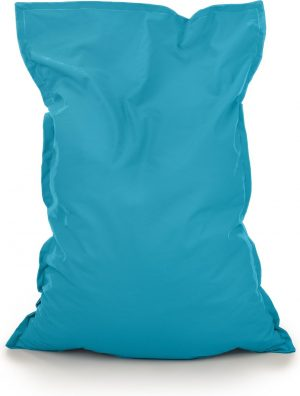 Drop & Sit Zitzak Stof - Turquoise - 115x150 cm - Voor Binnen