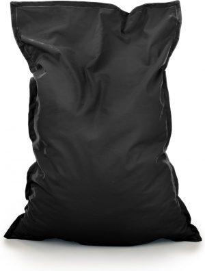 Drop & Sit Zitzak Stof - Zwart - 100x150 cm - Voor Binnen