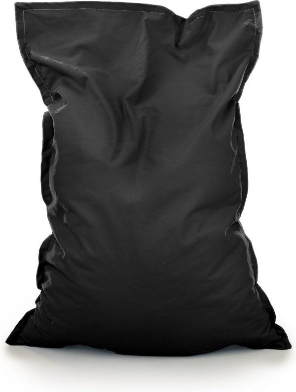 Drop & Sit Zitzak Stof - Zwart - 115x150 cm - Voor Binnen