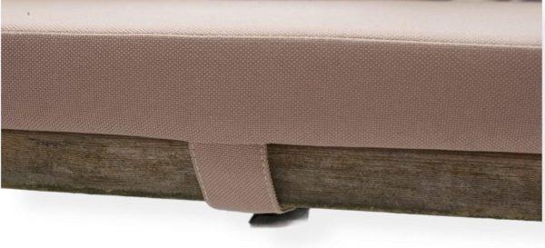 LuLu- Set van 2 Kussens Picknicktafel 180 x 30 cm  Taupe, Beige  Waterafstotend