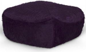 Drop & Sit Furry Poef - Donkerpaars - 50 x 50 cm - Voor Binnen