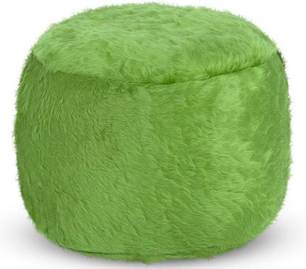 Drop & Sit Furry Poef - Lichtgroen - 40 x 40 cm - Voor Binnen
