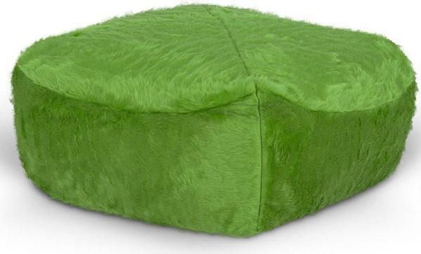 Drop & Sit Furry Poef - Lichtgroen - 50 x 50 cm - Voor Binnen