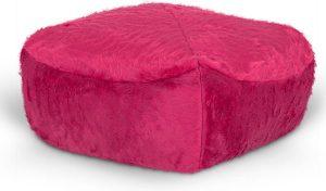 Drop & Sit Furry Poef - Roze - 50 x 50 cm - Voor Binnen