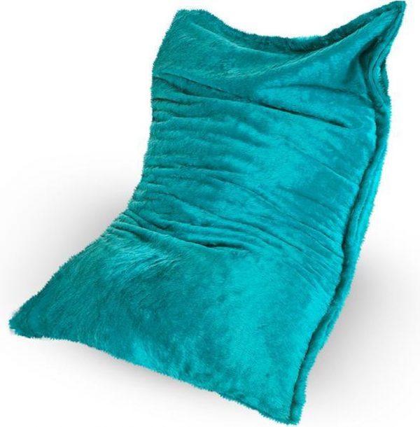 Drop & Sit Furry Zitzak - Aqua - 100 x 150 cm - Voor Binnen