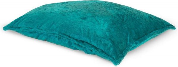 Drop & Sit Furry Zitzak - Aqua - 115 x 150 cm - Voor Binnen