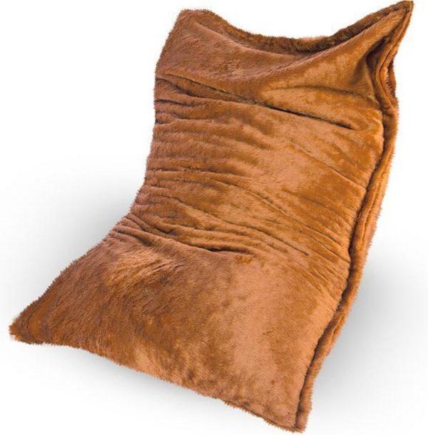 Drop & Sit Furry Zitzak - Camel - 100 x 150 cm - Voor Binnen