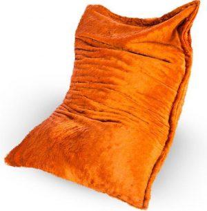 Drop & Sit Furry Zitzak - Oranje - 100 x 150 cm - Voor Binnen