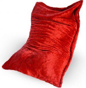Drop & Sit Furry Zitzak - Rood - 100 x 150 cm - Voor Binnen