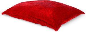 Drop & Sit Furry Zitzak - Rood - 130 x 150 cm - Voor Binnen
