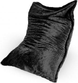 Drop & Sit Furry Zitzak - Zwart - 100 x 150 cm - Voor Binnen