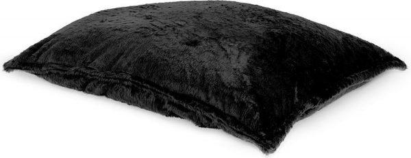 Drop & Sit Furry Zitzak - Zwart - 115 x 150 cm - Voor Binnen
