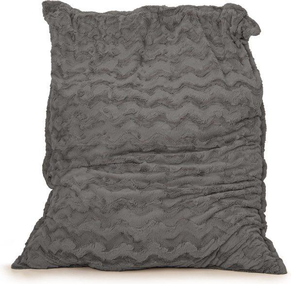 Drop & Sit Zitzak Bont - Donkergrijs - 115 x 150 cm - Voor Binnen