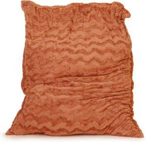 Drop & Sit Zitzak Bont - Oranje - 115 x 150 cm - Voor Binnen
