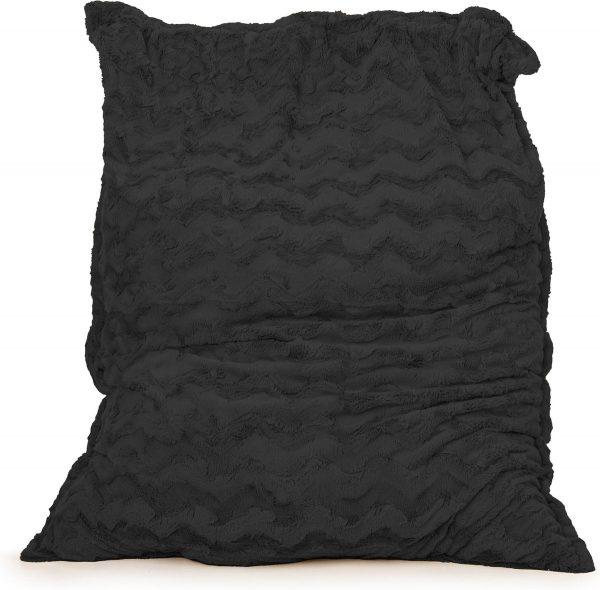 Drop & Sit Zitzak Bont - Zwart - 130 x 150 cm - Voor Binnen