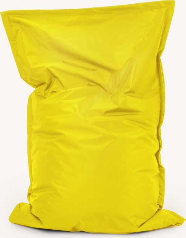Drop & Sit Zitzak Nylon - Geel - 100 x 150 cm