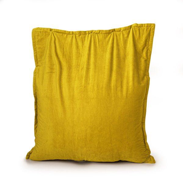Drop & Sit Zitzak Ribstof - Geel - 100 x 150 cm - Voor Binnen