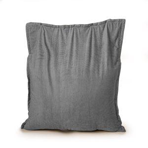 Drop & Sit Zitzak Ribstof - Grijs - 100 x 150 cm - Voor Binnen