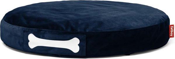 Fatboy Doggie Lounge Velvet Fluweel Wasbare Hondenkussen / Hondenmand Ø100 x 15 cm : Dark Blue