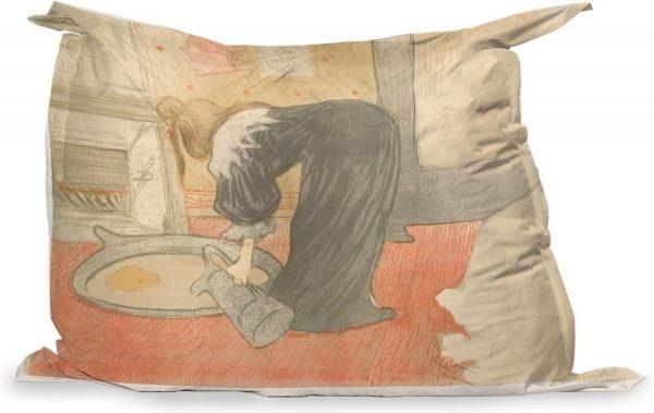 PillowMonkey - Zitzak Volwassenen - Een ton vullen - Schilderij van Henri de Toulouse-Lautrec - 175x135 cm - Binnen en Buiten