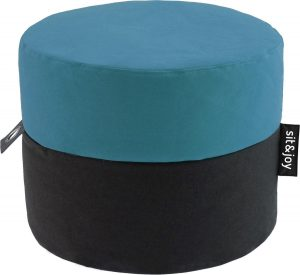 Sit&joy - Duo Rondo - Poef - Zitzak - Mint Blauw