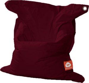 Whoober Rechthoek zitzak St. Tropez M outdoor bordeaux rood - Wasbaar - Geschikt voor buiten