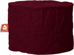 Whoober Zitzak poef Rhodos outdoor bordeaux rood - Wasbaar - Geschikt voor buiten
