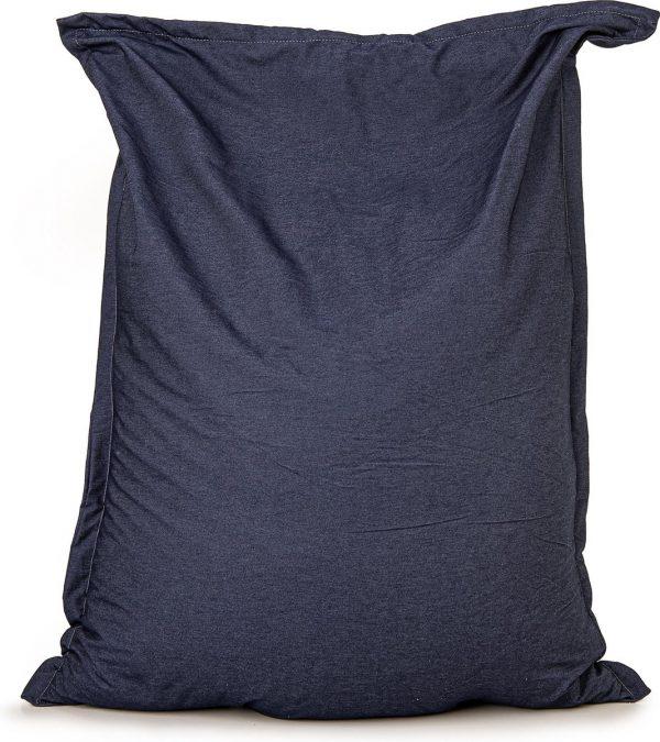 Zitzak Drop & Sit Spijkerstof - 115 x 150 cm - Blauw