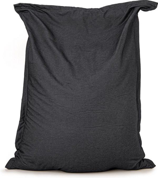 Zitzak Drop & Sit Spijkerstof - 115 x 150 cm - Zwart